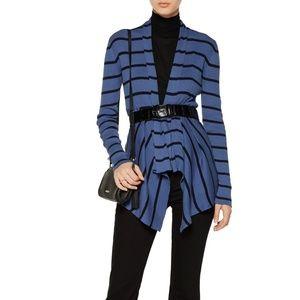 NWOT Cotton by Autumn Cashmere Striped Cardigan L